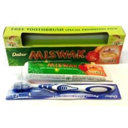 """Зубная паста Dabur """"Miswak"""" 150 гр. гелевая (зубная щётка в подарок)"""