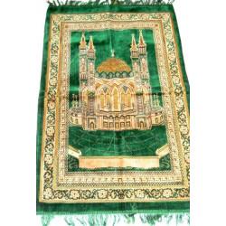 намазлык ковровый с Кул Шарифом расцветка светло зеленого цвета