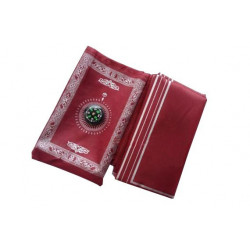 Карманный коврик для намаза с киблой