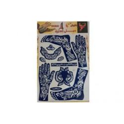 """Трафарет для рисования хной """"Dubai Top"""" 33.0×48.5 (в комплекте узоры как для рук, так и для ног)"""