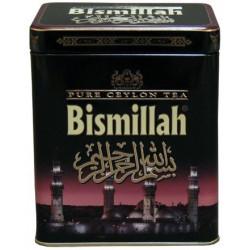 Чистый цейлонский чай Bismillah в железной черной банке 220 гр.