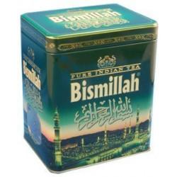 Чистый индийский чай Bismillah в железной  зеленой банке 150 гр.