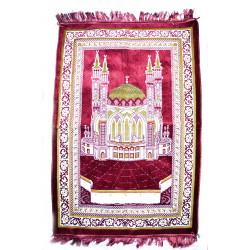 намазлык ковровый с Кул Шарифом расцветка бордового цвета