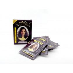 "Хна ""Royal"" Dark Brown (тёмно коричневая) в коробке 6 пакетиков по 10 гр. (made in India)"