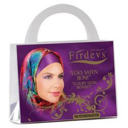 """Бони Firdevs """"Luxury Satin Bonnet""""  фиолетовая уп."""