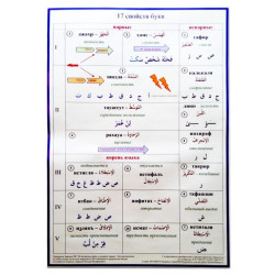 "Плакат настенный ""17 свойств букв"" (размер: 48х69)"