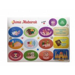 """Стикеры наклейки """"Juma Mubarak"""" Формат А5"""