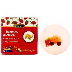 """Мыло детское с запахом клубники Hemani """"Hocus Pocus"""" Crazy Strawberry (c игружкой внутри) 100 гр."""