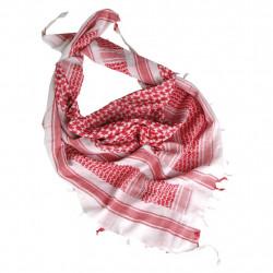Арафатка саудийская 100% хлопок (цвет красный-белый) c кисточкой