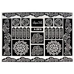 Трафарет для рисования хной 28.0×38.0 (чернобелый)
