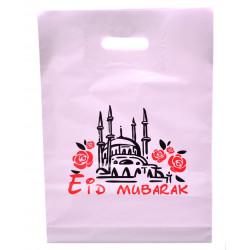 Пакет с ручками Eid Mubarak розовый (ПВД