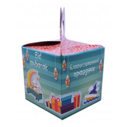 """Подарочная коробка """"Благословенный праздник"""" красно-зелёная. Umma-Land"""
