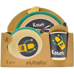 Набор посуды детский Robot из бамбука