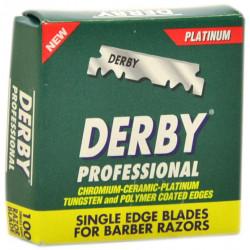 Лезвия односторонние для хиджамы Derby Professional 100 шт