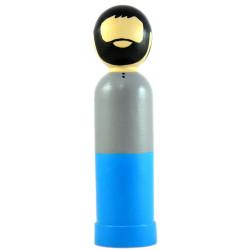 Игрушка - кукла деревянная мусульманин отец серо-синий