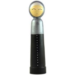 Игрушка - кукла деревянная мусульманка мать черное платье