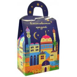"""Подарочная коробка """"Eid Mubarak"""" синяя Umma-Land"""
